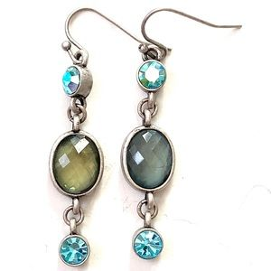 LIA SOPHIA Blue Silver dangle earrings